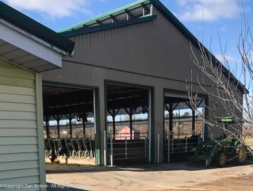 We buy our dairy products from Trinity Farms. Nothing but moo, or, in the case of eggs, cluck.