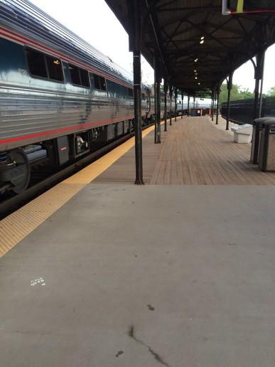 AMTRAK Metroliner service from Springfield, MA to Washington D.C. at Hartford's Union Station.