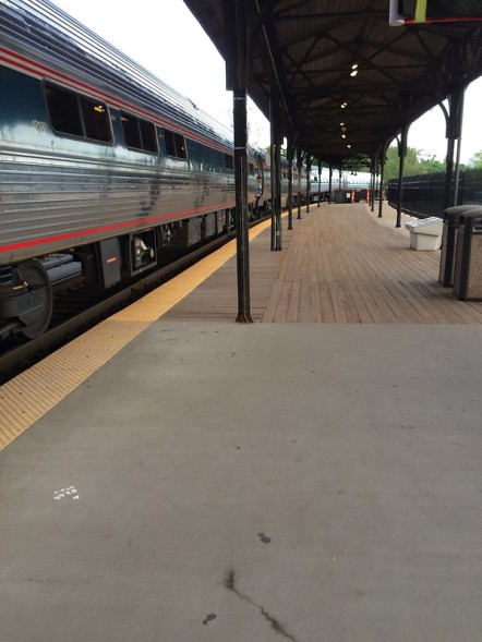 AMTRAK Metroliner service from Springfield, MA to Washington D.C. at Hartford's Union Station.