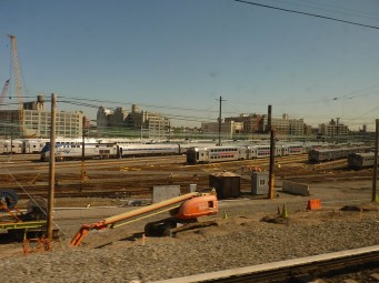 This is the Brooklyn rail yard. I would imagine this is 100 full today, as rail traffic in New York City is down by 95%