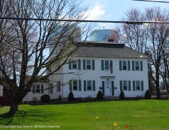 I like the house. The giant water towers, are another story. They aren't in the back yard. They are part of Connecticut Water's distribution network.