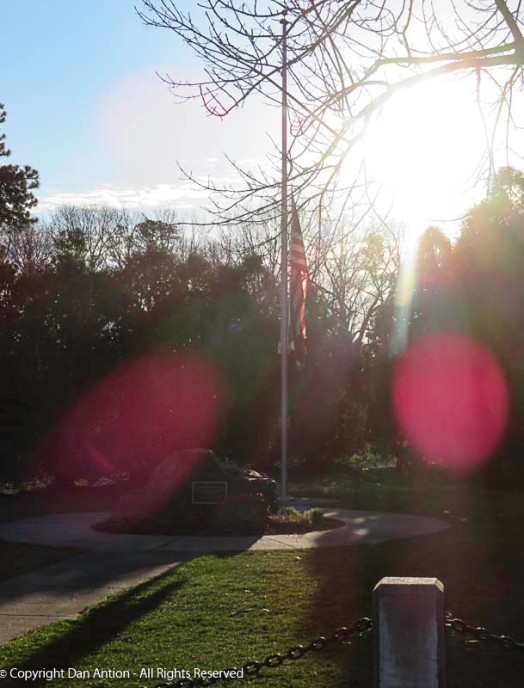 The sun was directly behind the memorial. I couldn't actually see the scene. This was truly a point&shoot.