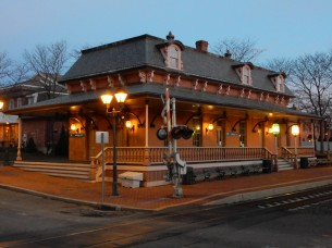 Historic railroad station in Windsor, CT.