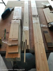 All the stock for the frame has been cut. The mortises have been cut.