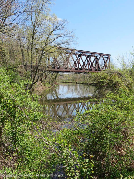 That's the portion of the trestle that crosses the canal.