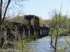 Heading over the bridge