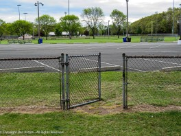 Sometimes, in order to avoid oncoming people, we cut through the parking lot and enter/exit through this gate.
