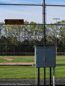 This is the largest of the three ball fields - 330' (100m) to center - I think the light controls are in that box.