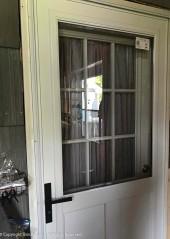 The storm door has been installed.