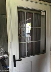 The storm door has been installed.