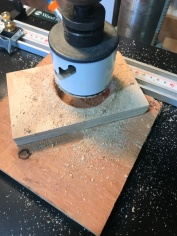 The handle won't stay in the lathe without a bushing