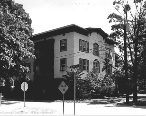 The apartment house in the 1970s.