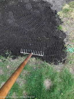 Shovel, schlep, dump, rake, tamp.