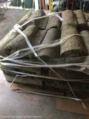 50 rolls of sod. It was delivered late, but the driver was kind enough to put it in my garage to keep it from baking in the sun.