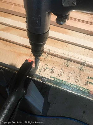 5mm Drill - I use 5mm shelf supports. The bit centers itself in the jig and stops the bit at the precise depth - I love this bit.