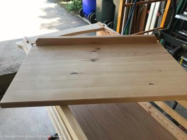 Bookcase Top - The top has a little back rail. The detail matches two Mission style dressers I made several years ago.