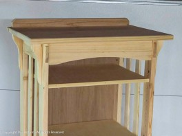 """Top Detail - The bookcase is 78""""(198cm) tall. Most people will never see the top, but I'm sure I'll stick something up there (and one of the cats will get there, too)."""