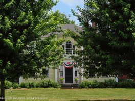 Front door of the Captain Charles Leonard House.