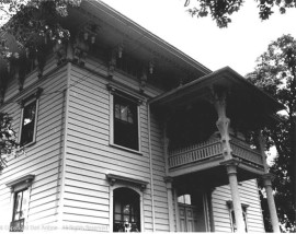 A close up of St. Joseph's Rectory from the 1970s.