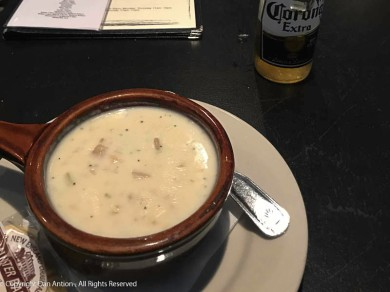 The bar does serve very good chowder.