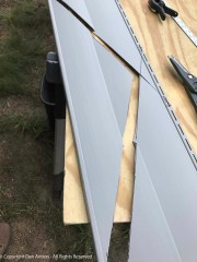 The last piece of siding for this wall.