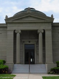 Front entrance of the Burnham library