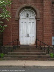 Side door to the Congregational church.
