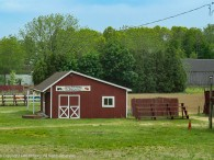 This little barn is on a farm in Windsor, CT that normally has pick-your-own strawberries and pumpkins as well as hayrides and corn mazes.