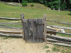 The boards for the gate, the hinges, the fence posts and rails could all be made in the village.