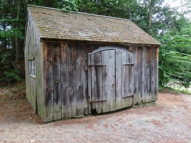 This small building houses an interactive display of simple machines. We've been inside many times. I've featured pictures of the open doors. I like arched doors.