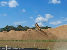 Moving a bunch of dirt for the new Amazon facility.
