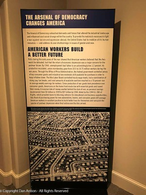 After the war, people were eager to purchase homes, start families and purchase the things that hadn't been available. That's an areal picture of Levittown on Long Island. Houses for returning soldiers.