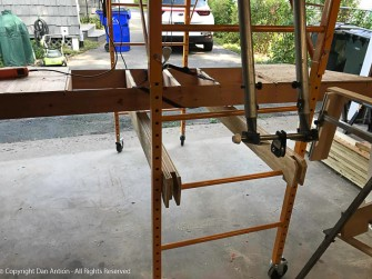 """In """"gantry crane"""" mode, once the item is lifted. these support rails are inserted and the load is lowered onto them for stability."""