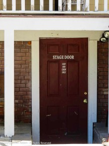 Stage Door - Cast and Crew Only.