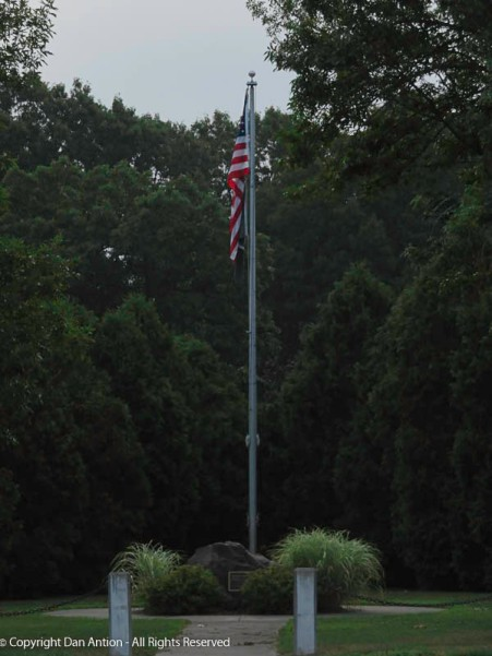 It's good to see the flag still standing proud in Veterans park.