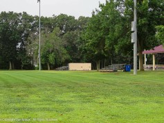 The bleachers remain on the soccer fields. I guess they haven't decided if there will be soccer this fall. If there is, they will have to decide if there can be fans.