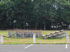 Bleachers, removed from the baseball fields.