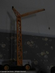 This is the model tower crane the Editor bought me for Christmas one year.