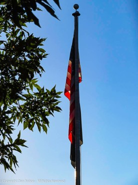 Close up of the calm flag.