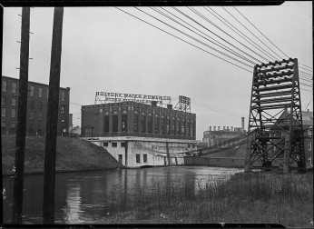 From the National Archives - The master corporation of Holyoke and the change from water to hydro-electric power. Holyoke Water Power Company. Circa 1936.