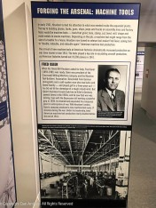 Fred Geier, president of the Cincinnati Milling Machine company visited Germany during the 1930s and saw that war was coming. He stepped up production at his company. During the war, Geier's company produced a new machine tool (the tools required to build everything else) every 17 minutes. Total American machine tool production nearly doubled by the end of 1941 and continued to grow after that.