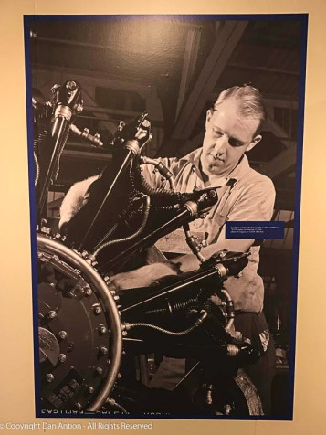 Assembling the Twin Wasp engine at Pratt and Whitney in East Hartford, CT.