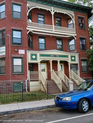 This is a popular style of multifamily building in Hartford's south end.