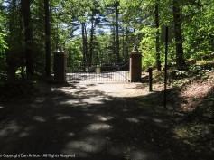 I was never so happy to see a gate as when we returned to this one from the summit of Mt. Tom.