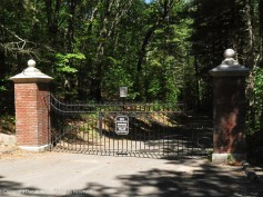 Entrance gate on the New England Trail as Faith and I began our trek up Mt. Tom.