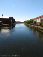 The canals run north to south for about a mile.
