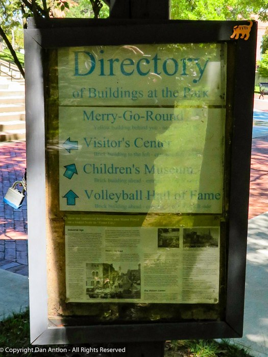 Directory. At the first level, there are several places to visit.