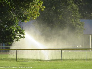 They don't normally have to use the sprinklers this late in the season.