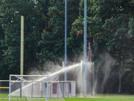 Windy day + sprinkler + obstacle.