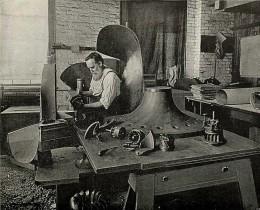 John Buchanan McCormick in his workshop.